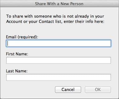 Share with a New Person